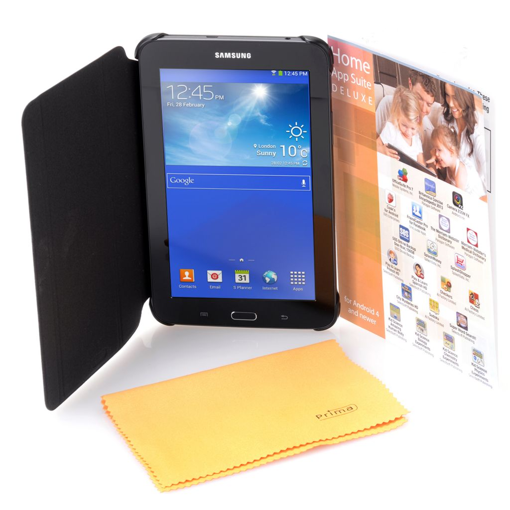"450-605 - Samsung 7"" Galaxy Tab® 3 Lite Android™ 4.2 8GB Dual-Core Tablet w/ Case & App Pack"
