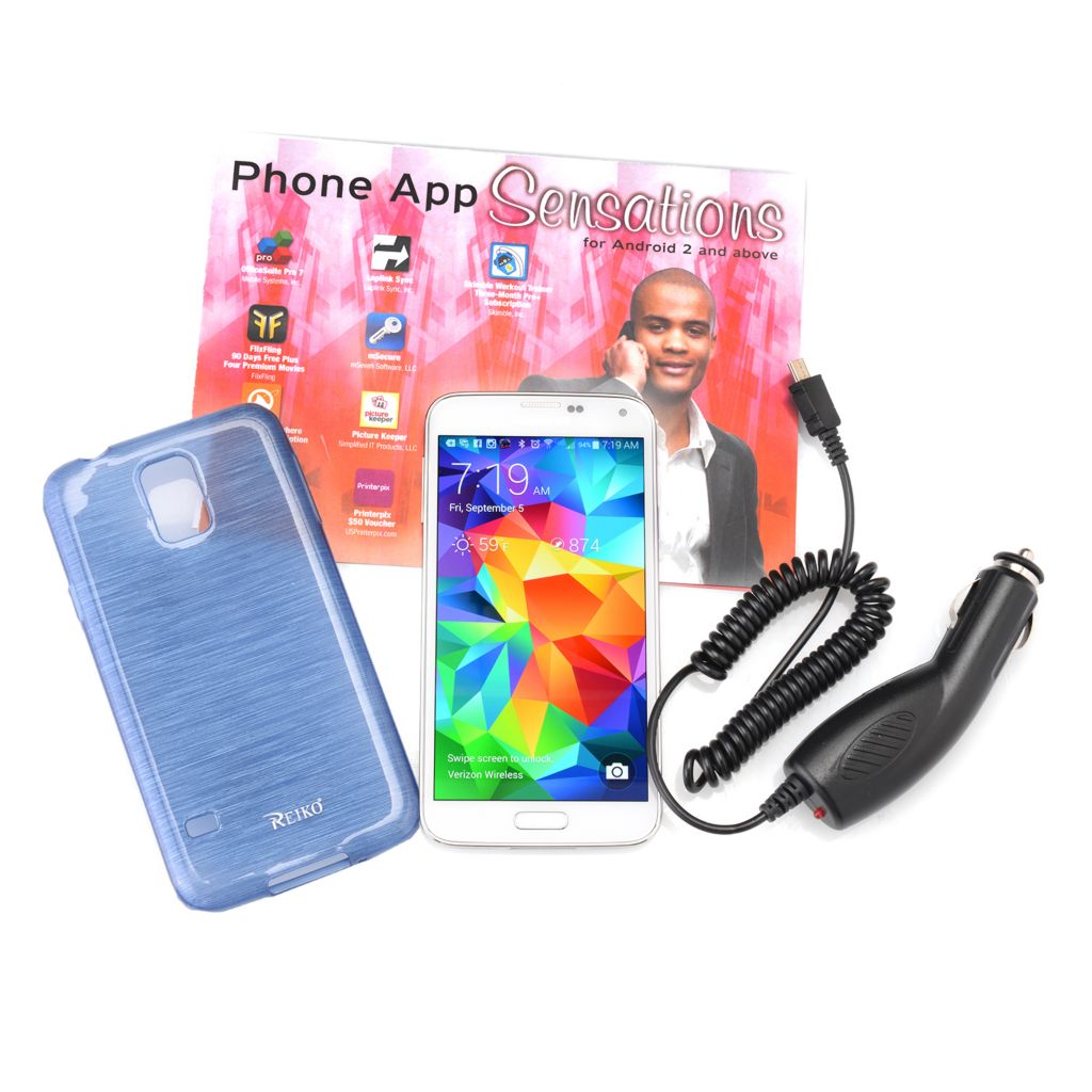450-608 - Samsung Galaxy S5 Virgin Mobile No-Contract 4G Smartphone w/ Case & Car Charger