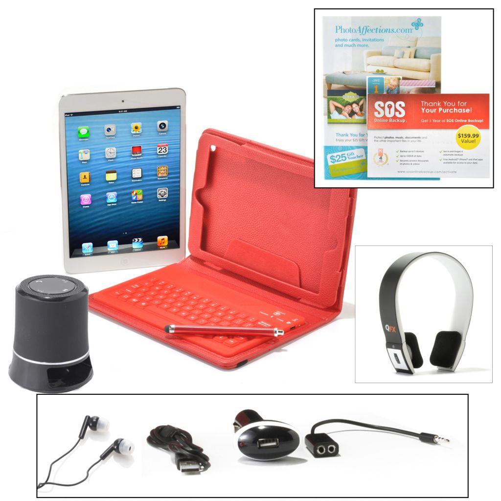 450-689 - Apple® iPad® Mini 16GB Wi-Fi Tablet w/ Bluetooth® Keyboard & Accessories