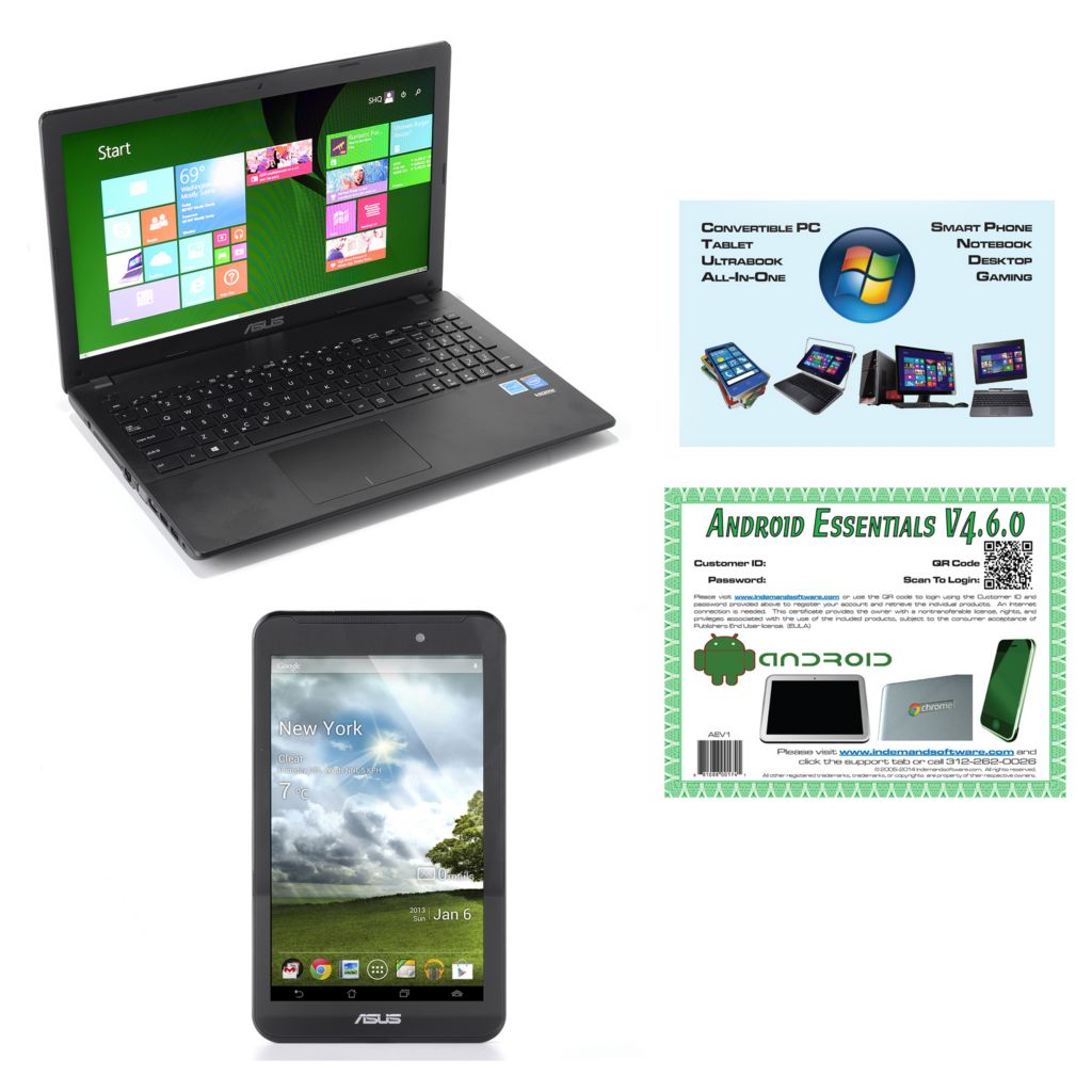 "450-711 - ASUS 15.6"" Notebook & 7"" Tablet w/ App Pack, PC Software & Tech Support"