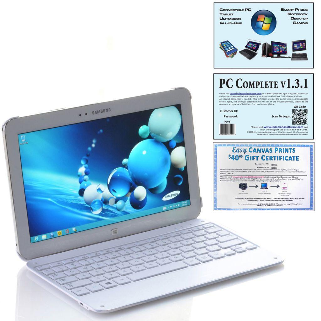 """450-752 - Samsung ATIV Tab 3 10.1"""" 64GB Wi-Fi Windows® 8 Tablet w/ Keyboard & Microsoft Office"""