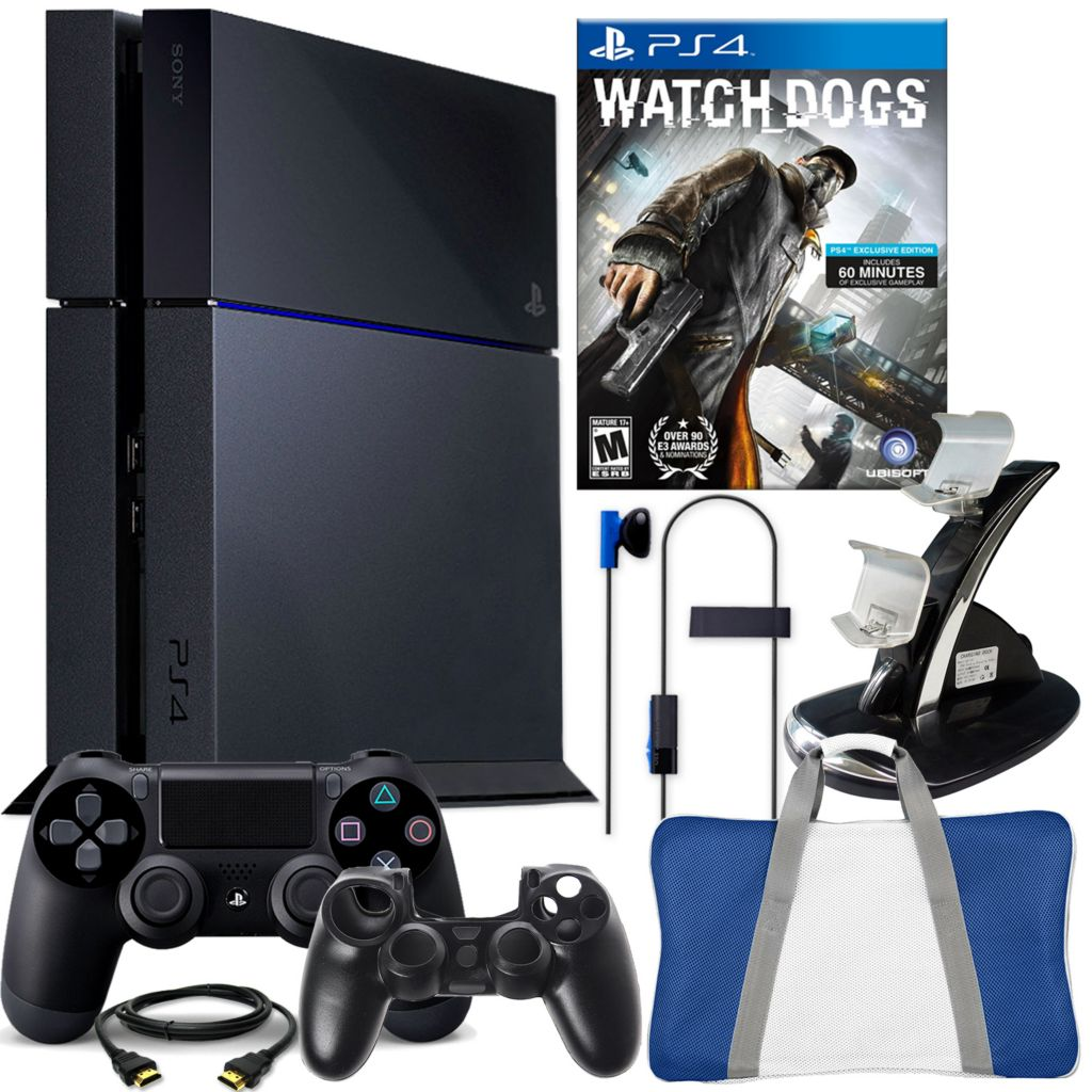 450-803 - PS4 500GB Gaming System Bundle w/ Watch Dogs & Accessories