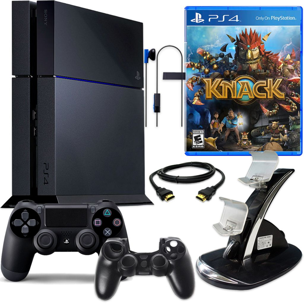 450-805 - PS4 500GB Gaming System Bundle w/ Knack & Accessories