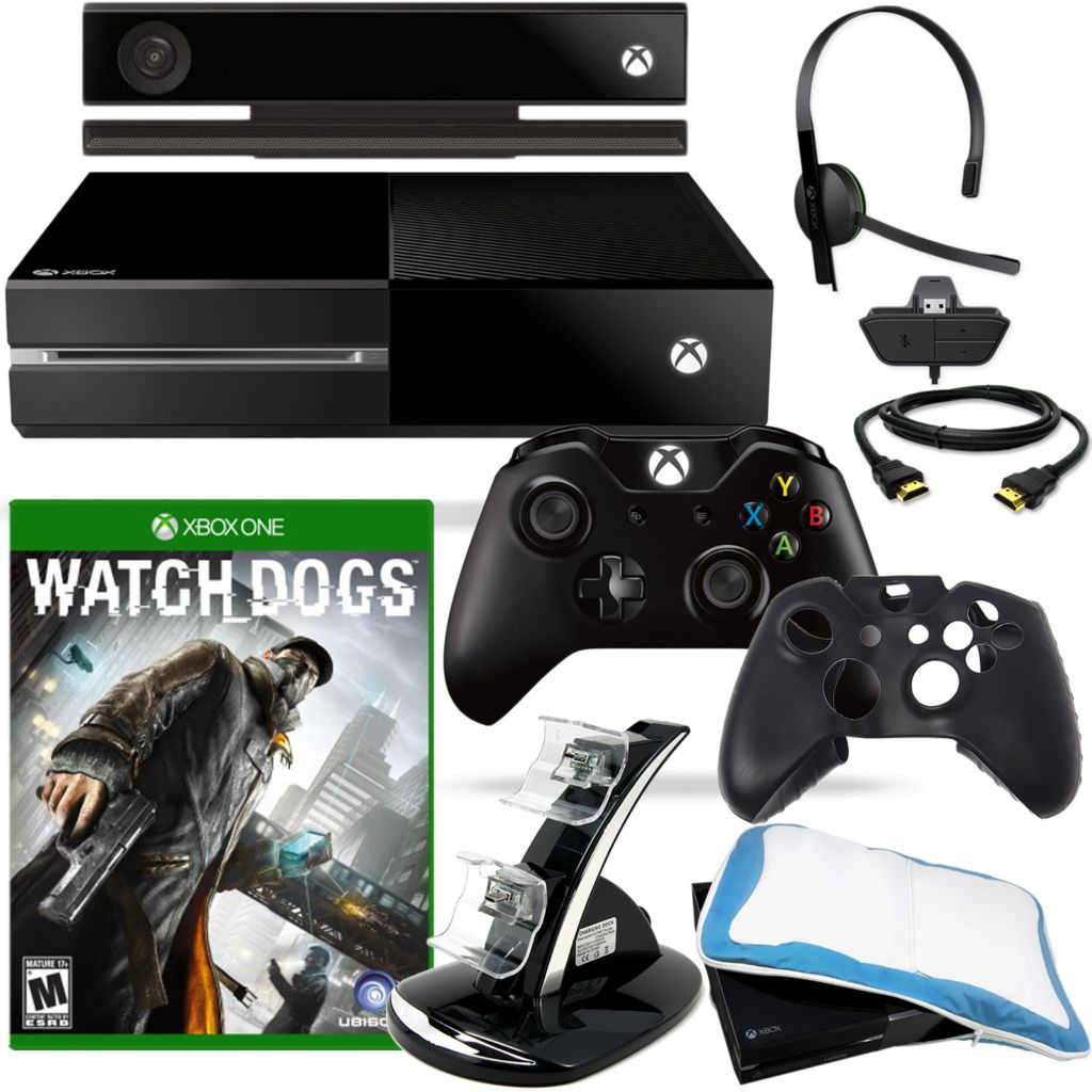 450-809 - XBOX One 500GB Gaming Console w/ Watch Dogs & Accessories