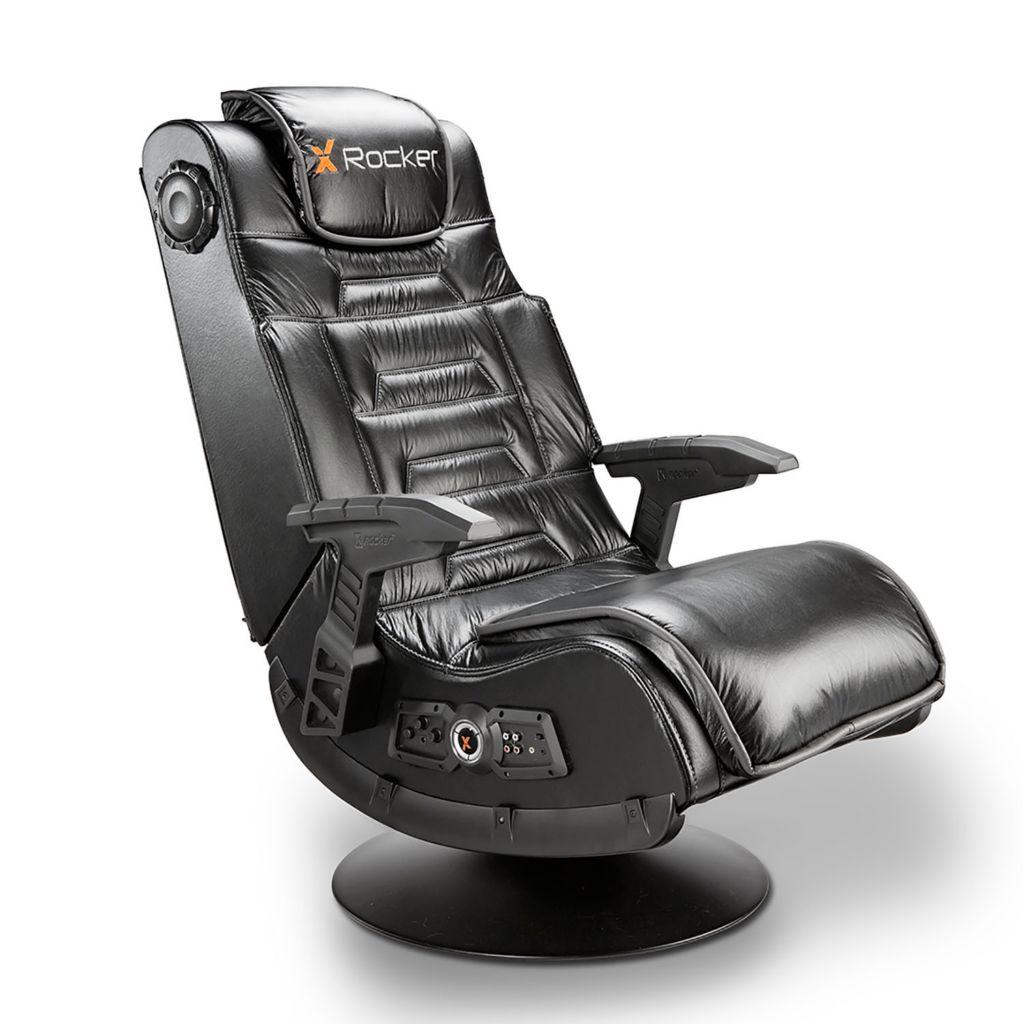 450-841 - X Rocker Pro Series Wireless 2.1 Gaming Pedestal Chair w/ Vibration