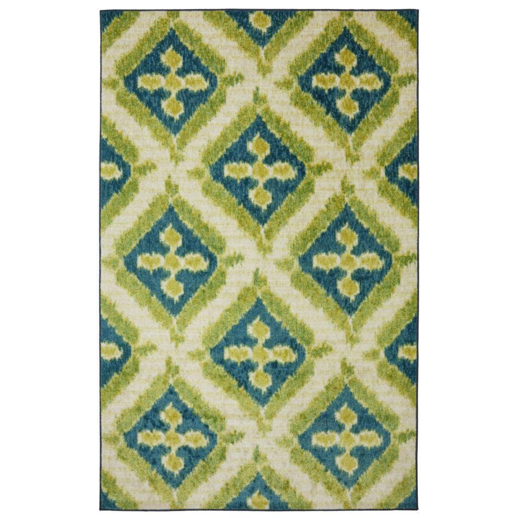 450-888 - Mohawk Home Nylon Becker Turquoise Rug