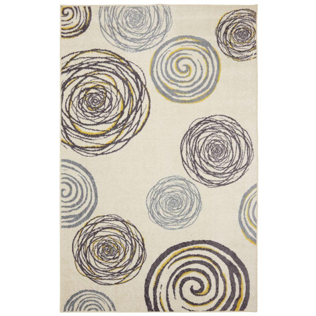 450-892 - Mohawk Home Nylon Swirlz Yellow Rug