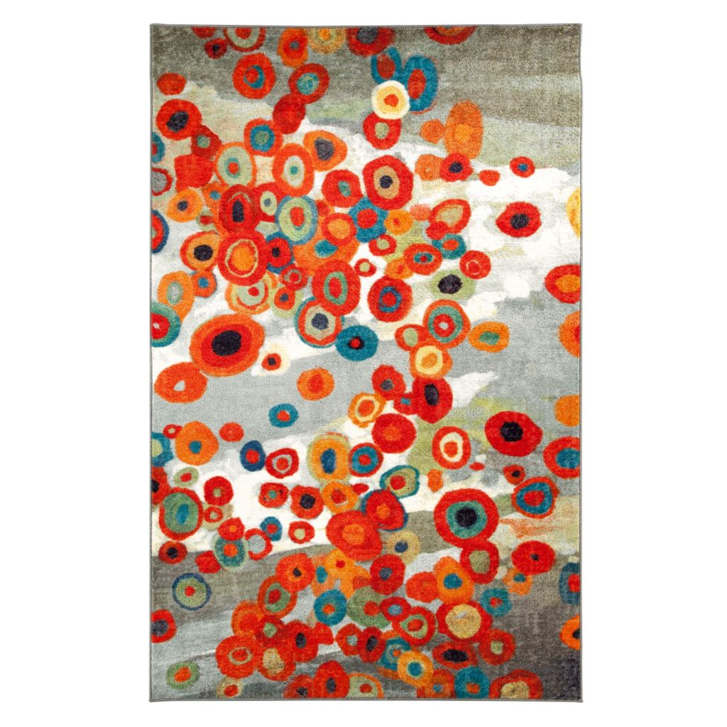 450-895 - Mohawk Home Nylon Tossed Floral Rug