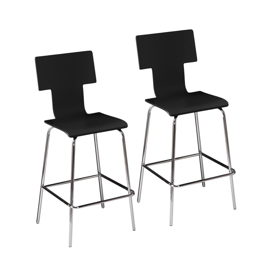 "450-952 - Holly & Martin Set of Two 45"" Tebrack Bentwood Barstools"