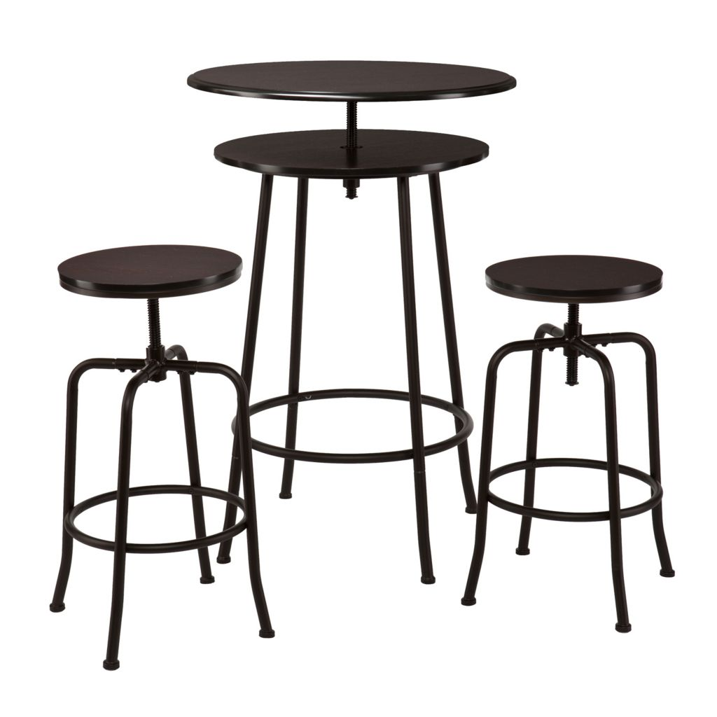 450-971 - Holly & Martin Three-Piece Kalomar Adjustable Pub Table & Stools