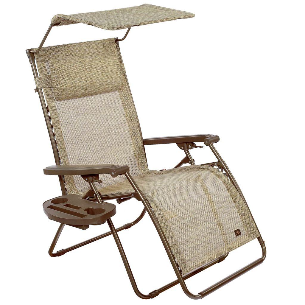 468 910  Bliss Hammocks Deluxe XL Zero Gravity Chair W/ Canopy, Headrest