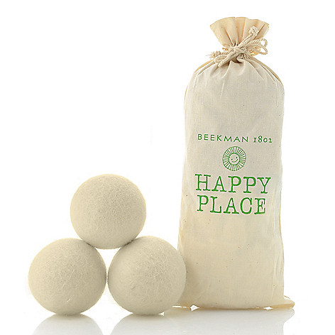 469-339- Beekman 1802 Happy Place Set of 3 or 6 Handmade Wool Dryer Balls