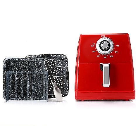 469-986- Paula Deen 1700W 8.5 qt Ceramic Nonstick XXL Air Fryer w/ Accessories
