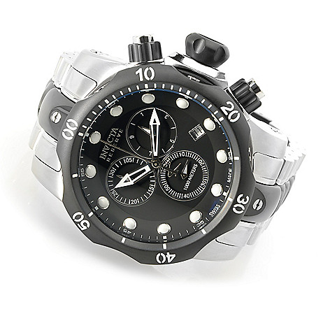 602-043 - Invicta Reserve 52mm Venom Swiss Made Quartz Chronograph Stainless Steel Bracelet Watch