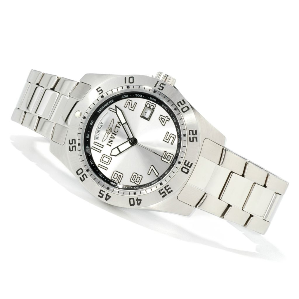 602-560 - Invicta 44mm Sport Day & Date Quartz Stainless Steel Bracelet Watch