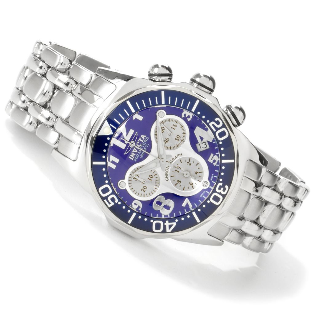 602-775 - Invicta Men's Lupah Swiss Quartz Chronograph Silver-tone Stainless Steel Watch