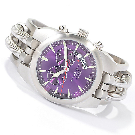 603-104 - Android Men's Hydraumatic Quartz Chronograph Stainless Steel Bracelet Watch