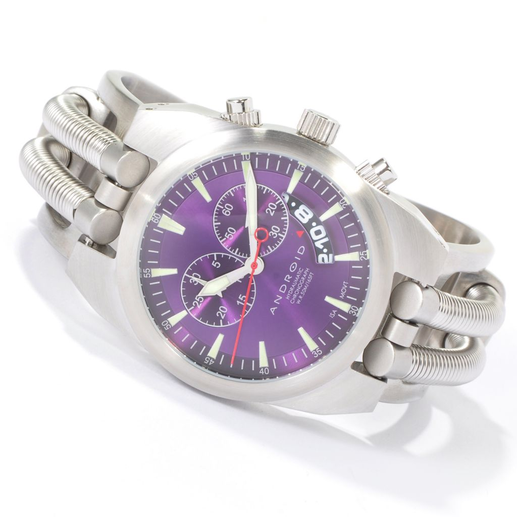 603-104 - Android 42mm Hydraumatic Quartz Chronograph Stainless Steel Bracelet Watch