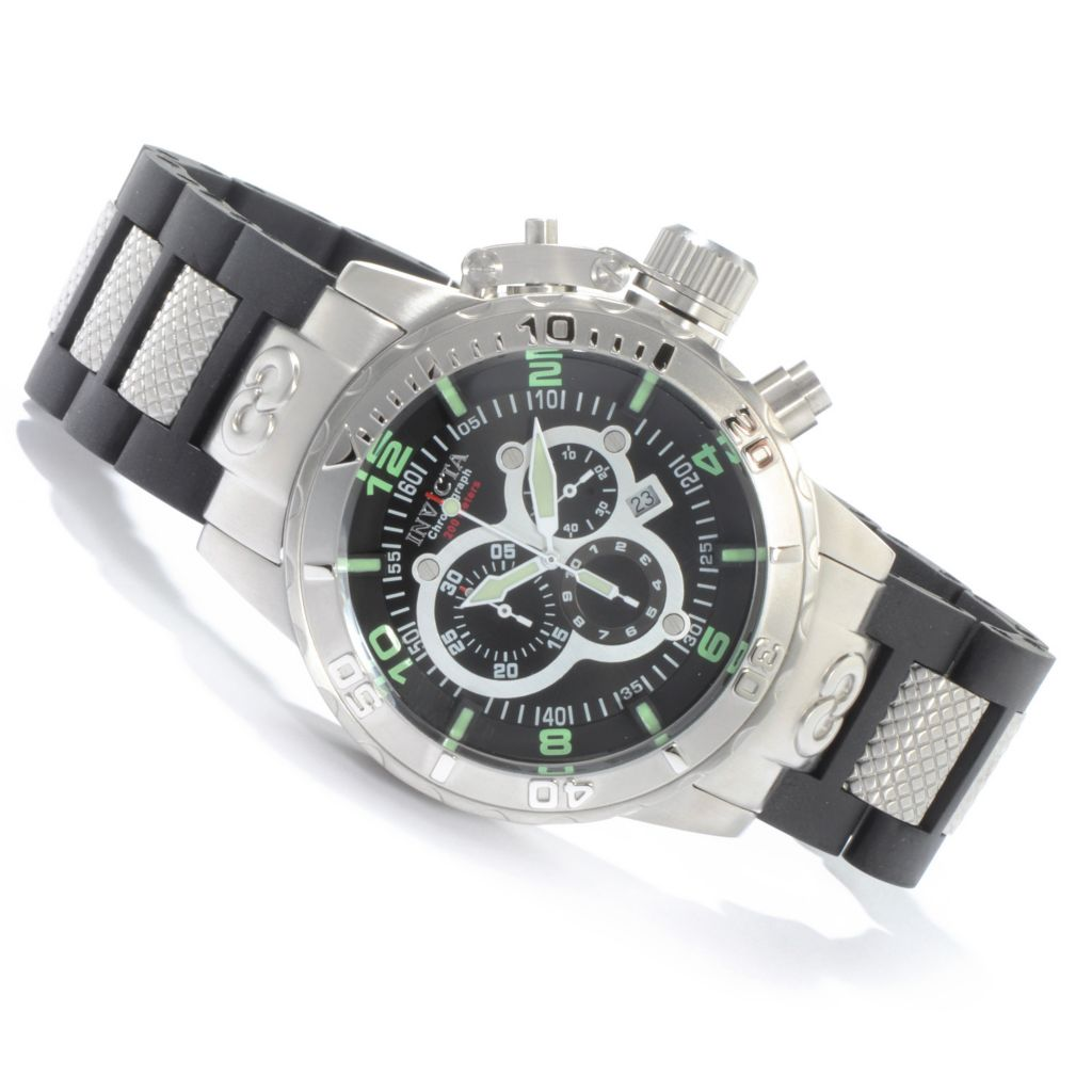 603-271 - Invicta 52mm Corduba Ibiza Quartz Chronograph Stainless Steel Bracelet Watch