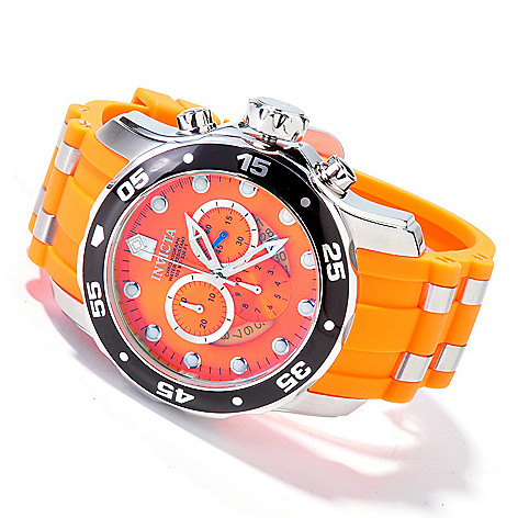 603-674 - Invicta Men's Pro Diver Scuba Quartz Chronograph Stainless Steel Strap Watch
