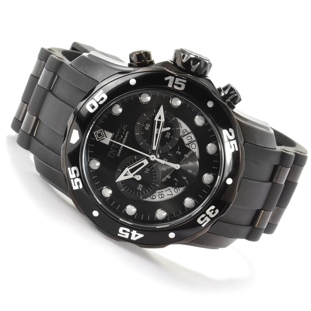 603-675 - Invicta Men's Pro Diver Scuba Quartz Chronograph Strap Watch