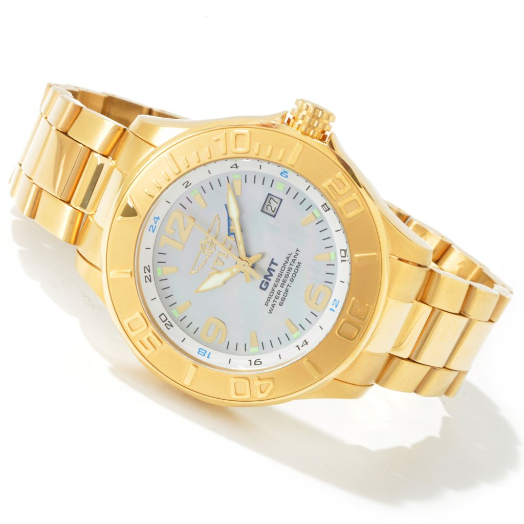 603-696 - Invicta Men's or Women's Ocean Ghost GMT MOP Stainless Steel Watch
