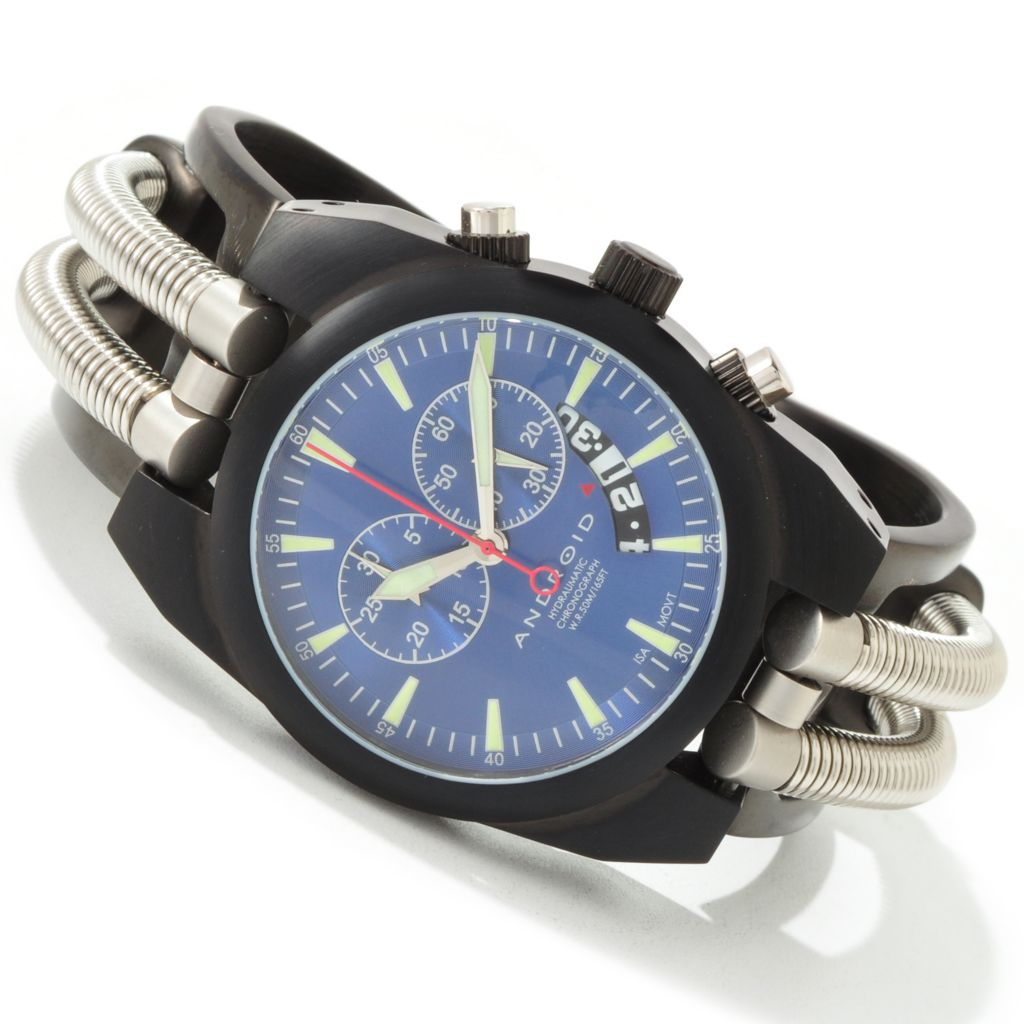 603-842 - Android 41mm Hydraumatic Quartz Chronograph Stainless Steel Cuff Watch