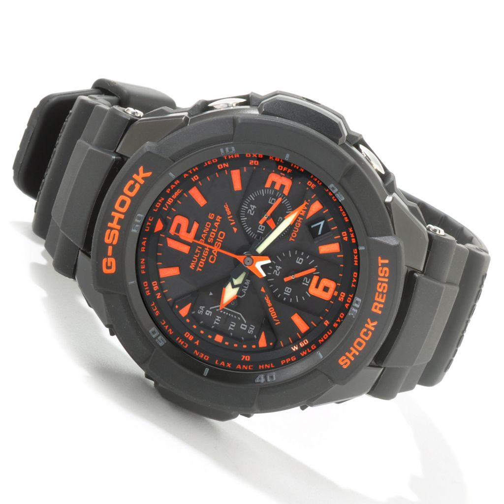 603-936 - Casio 49mm G Shock Quartz Solar Powered Multi Fucntion Strap Watch