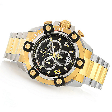 604-629 - Invicta Reserve 63mm Grand Octane Swiss Made Quartz Chronograph Stainless Steel Bracelet Watch
