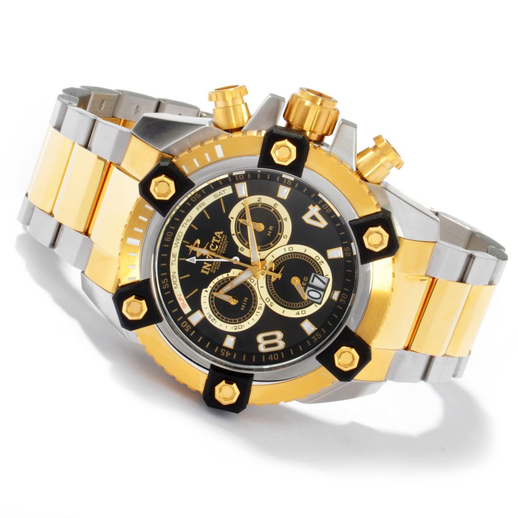 604-630 - Invicta Reserve 63mm Swiss Made Quartz Chronograph Stainless Steel Bracelet Watch