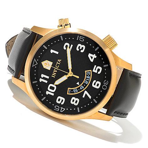 604-661 - Invicta 48mm II Quartz Carbon Fiber Dial Strap Watch