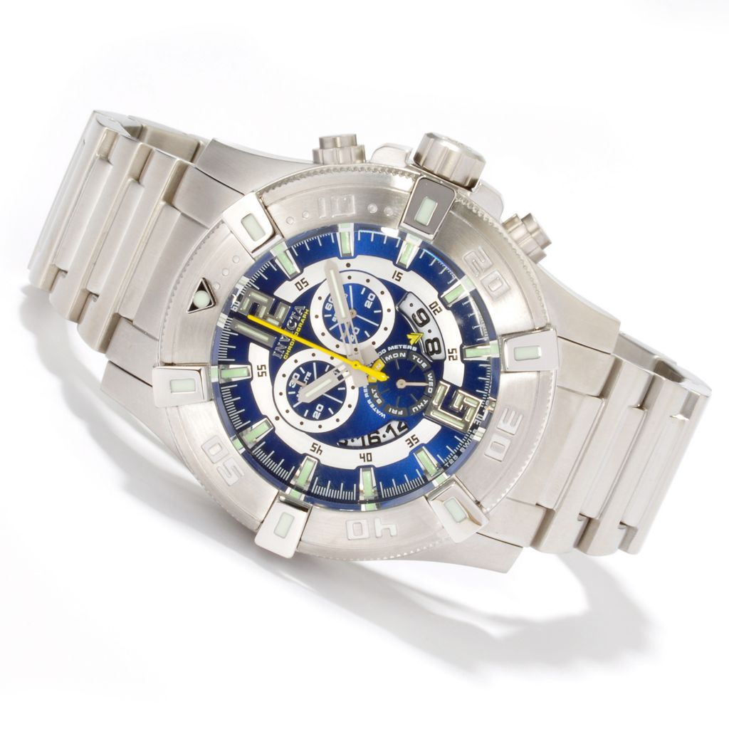 604-944 - Invicta 52mm Luminary Swiss Chronograph Stainless Bracelet Watch