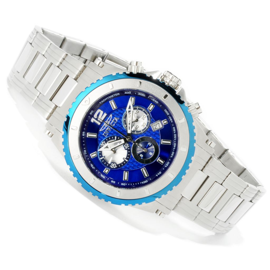 605-090 - Invicta 46mm Specialty Sport Quartz Chronograph Bracelet Watch