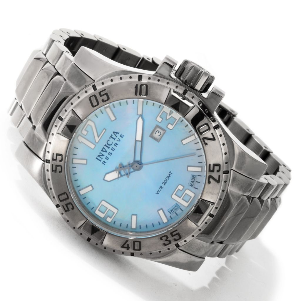 605-117 - Invicta Reserve Men's Excursion Swiss Quartz Stainless Steel Bracelet Watch