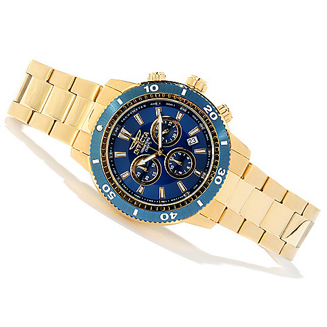 605-488 - Invicta 45mm Sport Quartz Chronograph Tachymeter Stainless Steel Bracelet Watch