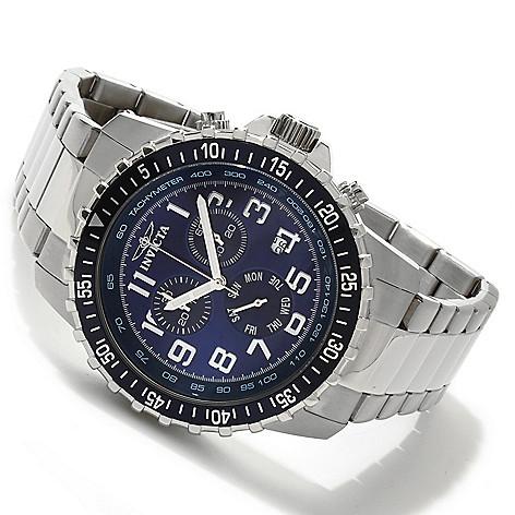 605-533 - Invicta 45mm Pilot Quartz Chronograph Stainless Steel Bracelet Watch