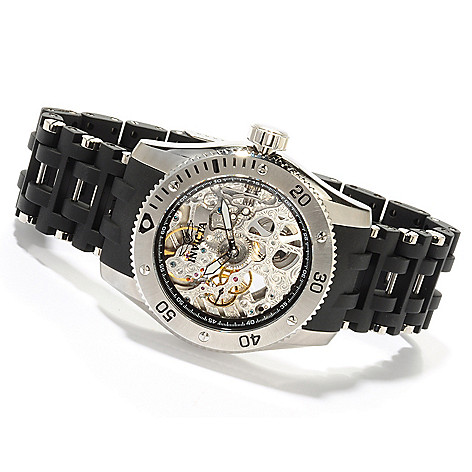605-554 - Invicta Men's Sea Spider Skeleton Mechanical Bracelet Watch