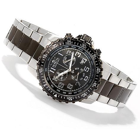 605-679 - Invicta 45mm Sport Quartz Chronograph Tachymeter Stainless Steel Bracelet Watch