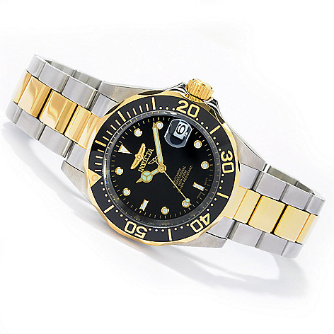 605-723 - Invicta Men's Pro Diver Automatic Stainless Steel Bracelet Watch w/ Three-Slot Diver's Case