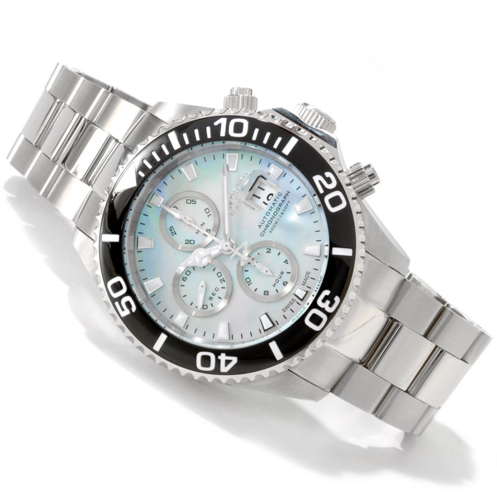 605-749 - Invicta Reserve Men's Pro Diver Swiss Made Mother-of-Pearl Bracelet Watch