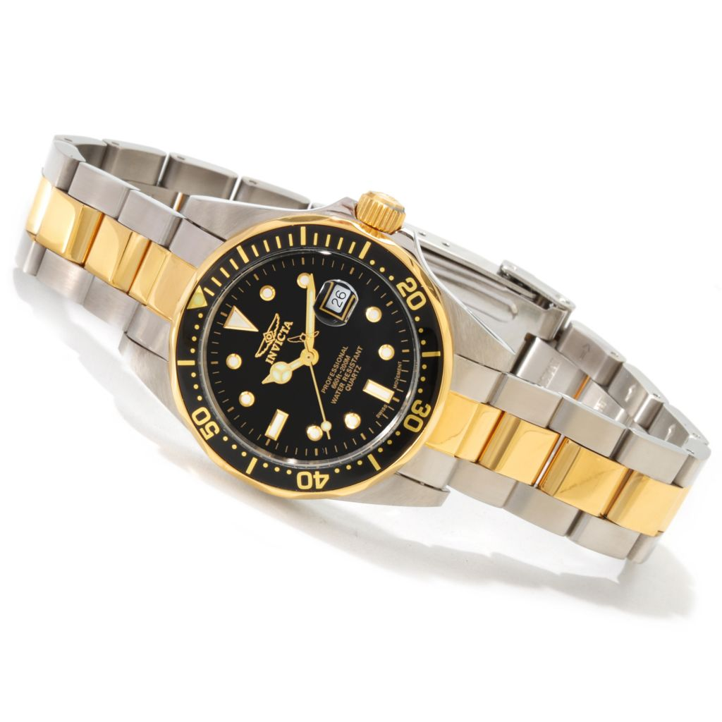 606-282 - Invicta Women's Pro Diver Quartz Stainless Steel Bracelet Watch