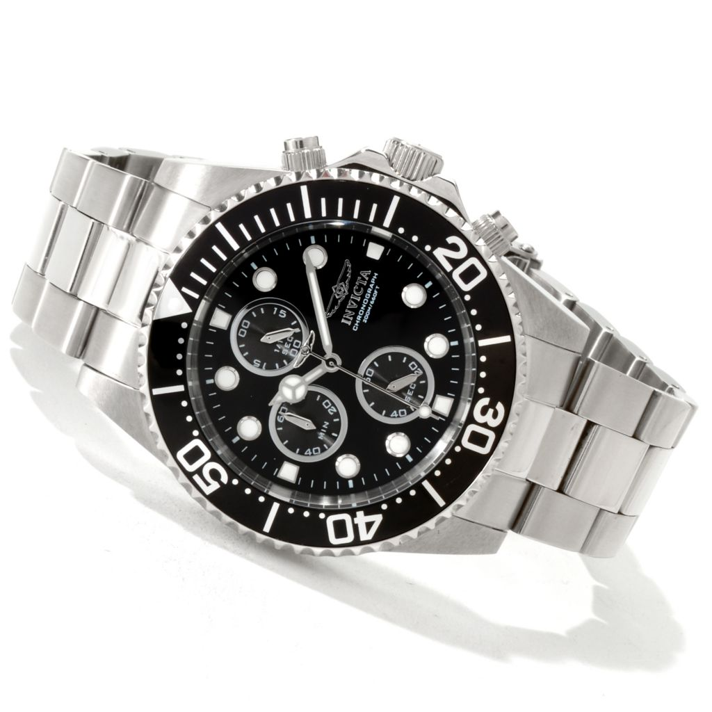 606-377 - Invicta Men's Pro Diver Quartz Chronograph Stainless Steel Bracelet Watch
