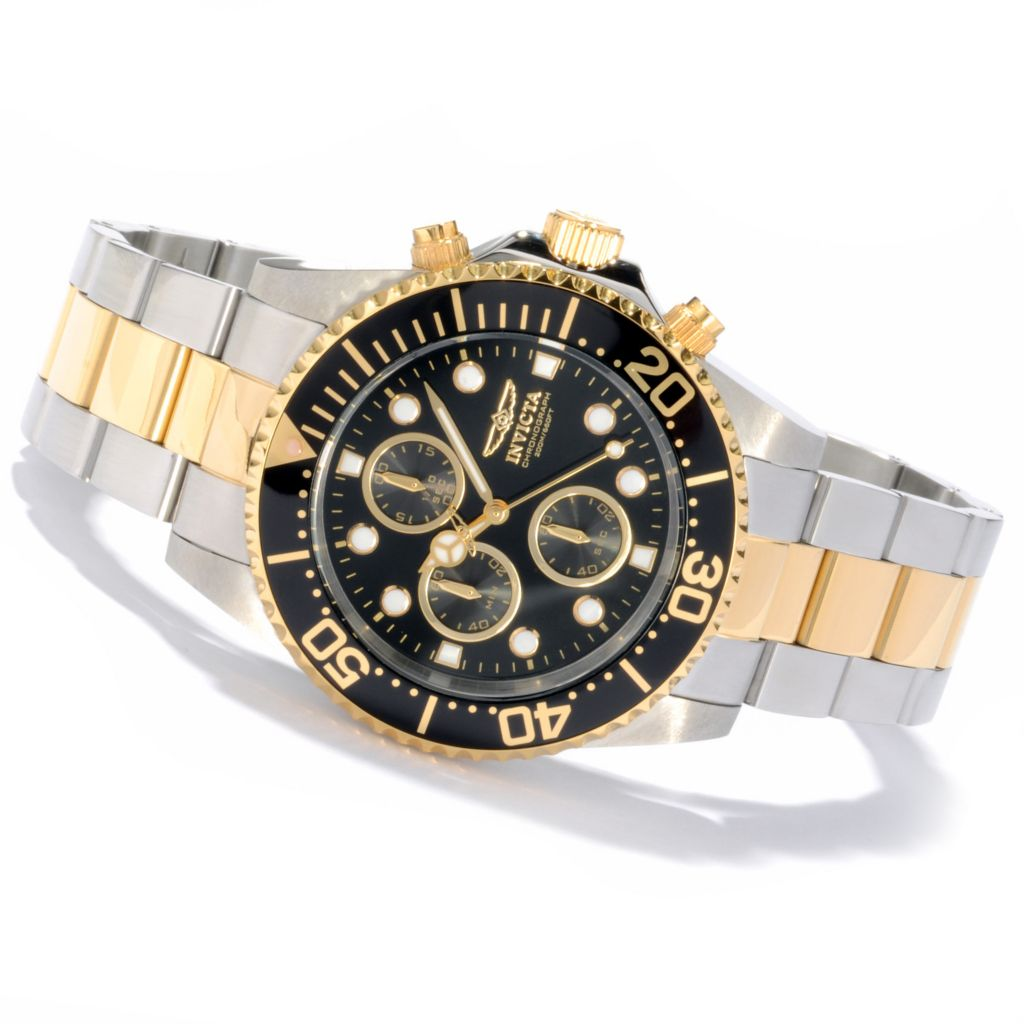 606-441 - Invicta 43mm Pro Diver Quartz Chronograph Stainless Steel Bracelet Watch