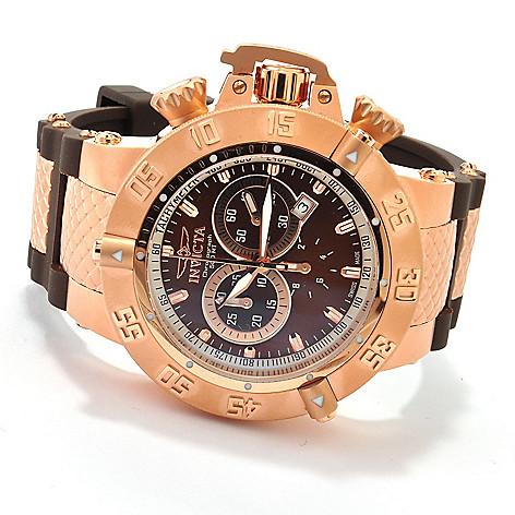 606-518 - Invicta Men's Subaqua Noma III Swiss Quartz Chronograph Polyurethane Strap Watch w/ 3-Slot Dive Case