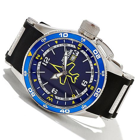 606-560 - Invicta Men's Aviator Quartz Stainless Steel Case Polyurethane Strap Watch