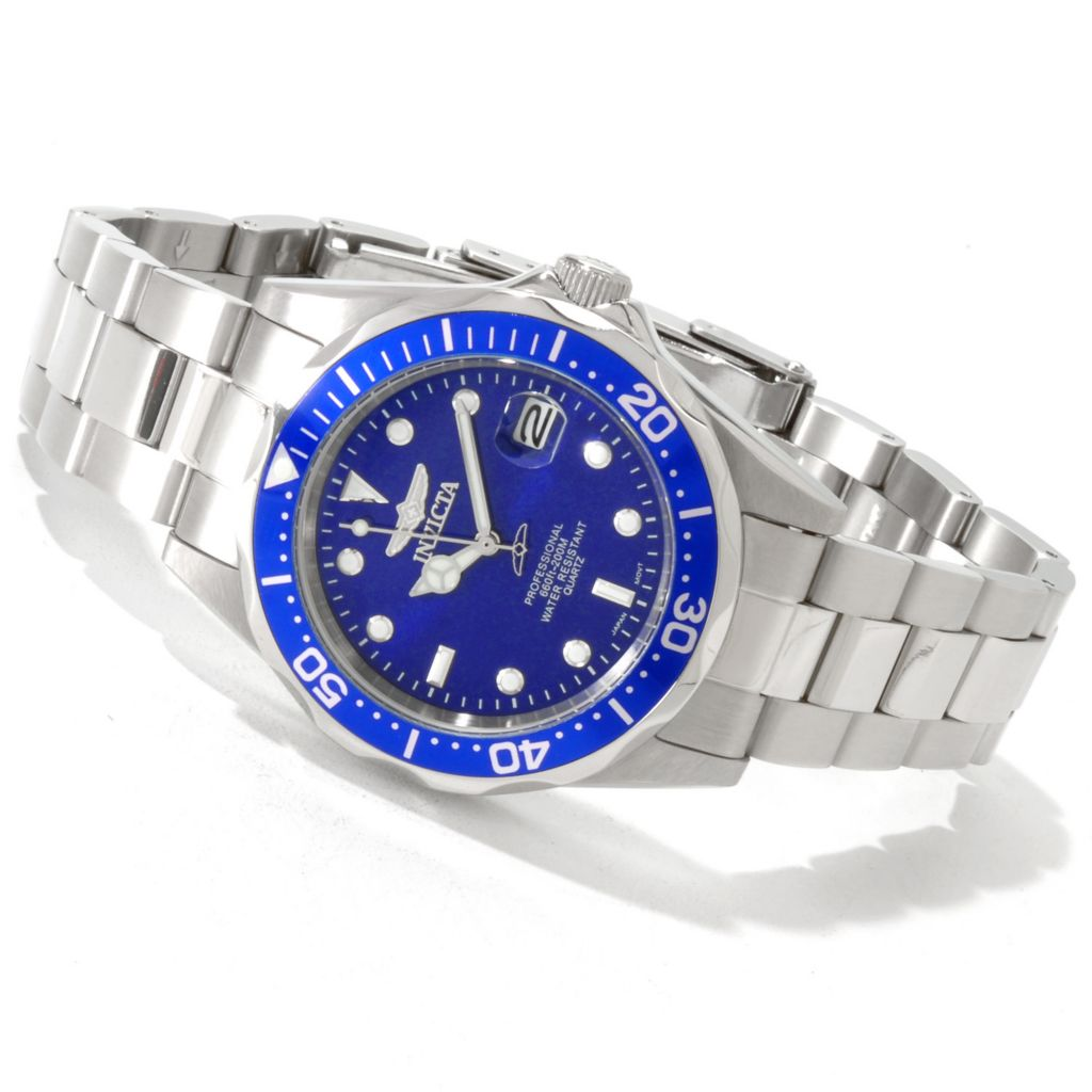 606-576 - Invicta Men's Pro Diver Quartz Stainless Steel Bracelet Watch