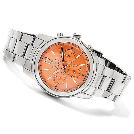 606-656 - Invicta Women's Angel Quartz GMT Stainless Steel Bracelet Watch