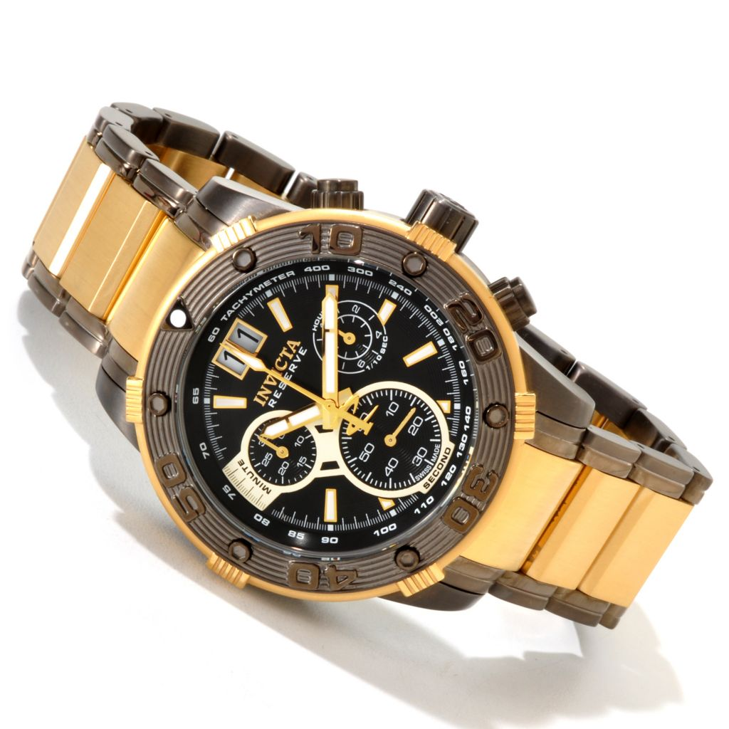 606-746 - Invicta Reserve 47mm Ocean Speedway Swiss Quartz Chronograph Stainless Steel Bracelet Watch