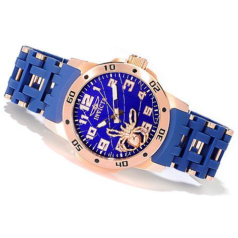 606-759 - Invicta 48mm Sea Spider Stainless Steel Polyurethane Bracelet Watch