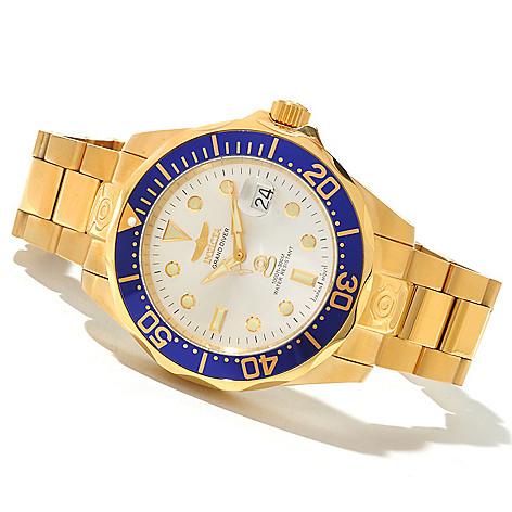 606-766 - Invicta 47mm Grand Diver Automatic Bracelet Watch w/ Eight-Slot Dive Case